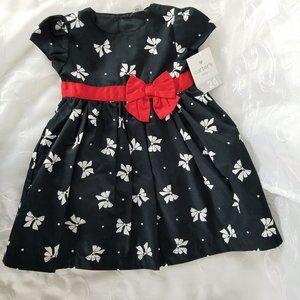 Carters Girls Sz 24 Month 2-Piece Dress Set Blk